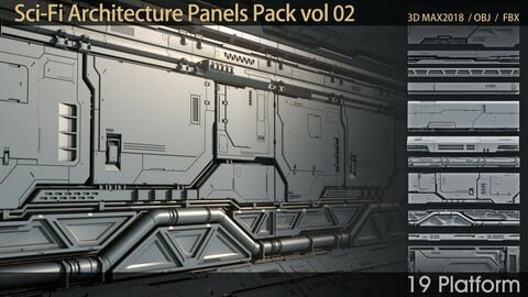 Sci-Fi Architecture Panels Pack vol 02