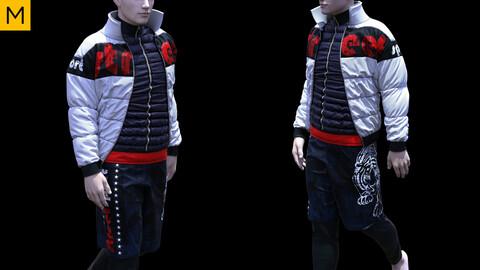 Mens clothing. Avatar genesis 8 Male. Marvelous Designer, Clo3d project + OBJ/FBX files.(17)