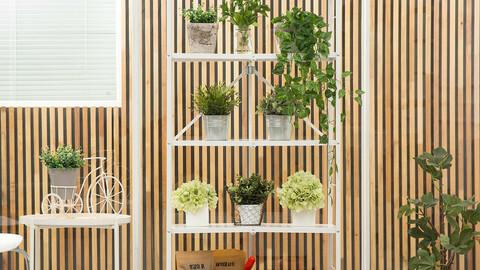 One-touch folding 5-tier steel storage shelf 2colors