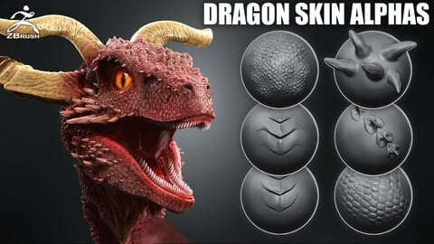 Dragon Skin Alphas + VDM Brush