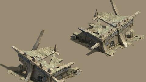 Desert - Broken Buildings