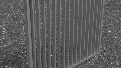Metal Fence 1 - 3D Model