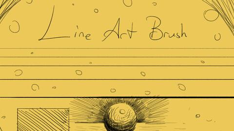 Line art brush