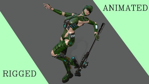 Sci-Fi Ranger Green colour