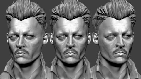 Johnny Depp - Grindelwald likeness sculpt