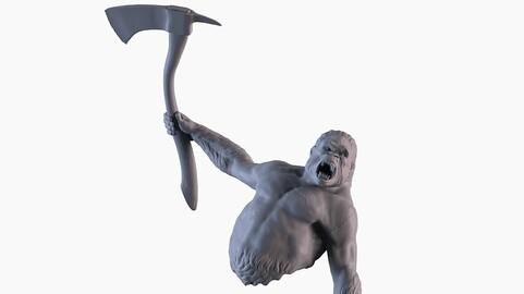 Gorilla Attack Statue