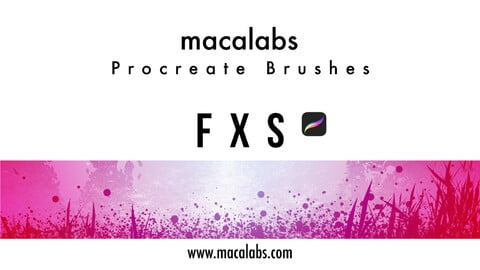 MACALABS_FXs. Procreate Brushpack