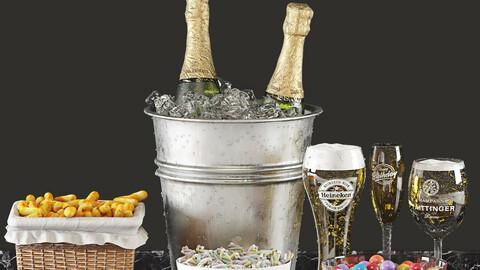 Champagne Beer Bucket Set