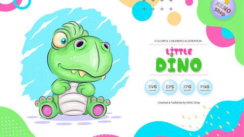 Cartoon little Dino