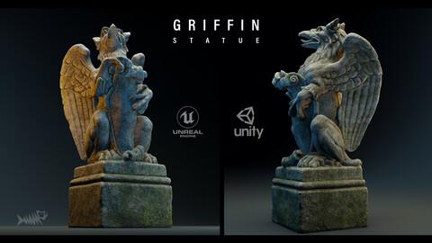 Griffin Statue 4K PBR