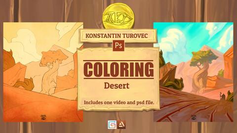 Coloring - Desert Environment