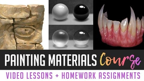 Painting Materials Course - Foundation Lessons (1-8)