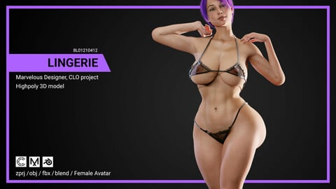 Lingerie - Marvelous Designer, CLO Project