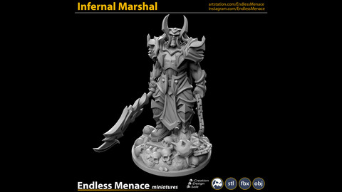 Infernal Marshal   3D print ready