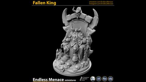 Fallen King   3D print ready