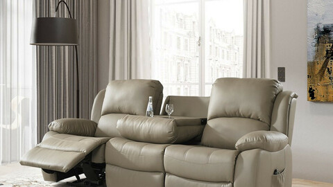 Neo electric recliner 3-seat leather sofa