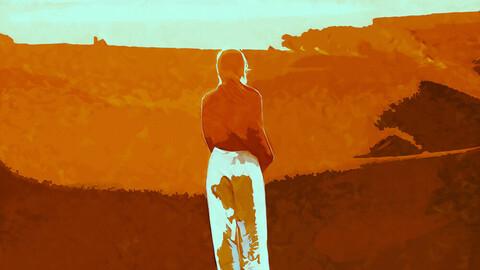 Girl in the Desert: License + Wallpaper 4K