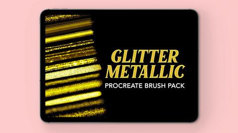 Procreate Brushset - Glitter Metallic | Design 2 Last
