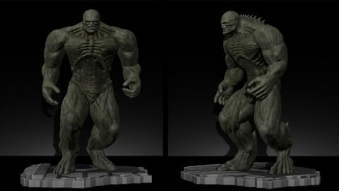Abomination Hulk, from movie The incredible Hulk 2008, with Edward Norton, File STL for 3D Printer FDM-FFF  SLA-DPL-SLS   Model Printing Miniature Assembly