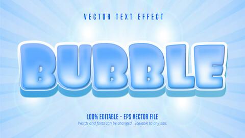 Bubble text, cartoon style editable text effect