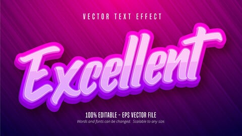 Excellent text, calligraphy style editable text effect