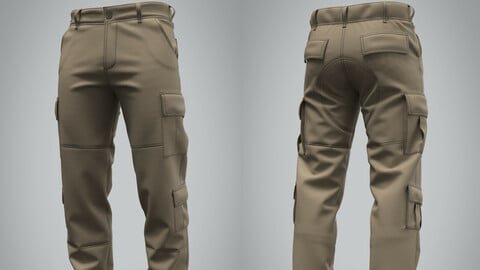 Military tactical cargo pants (Marvelous Designer / Clo 3D project)