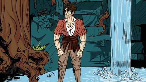 Comic book about the historical development of Mexico (The adventures of John Johnson)