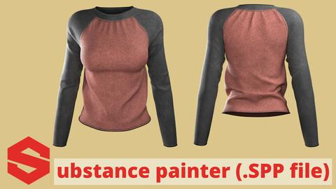 Substance Painter file ( .SPP) : Raglan shirt