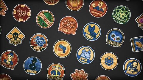 Fallout Fanart Sticker Pack - 40 pcs - AI - SVG - 2k PNG