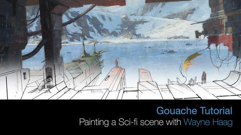 Scifi Gouache Painting Tutorial