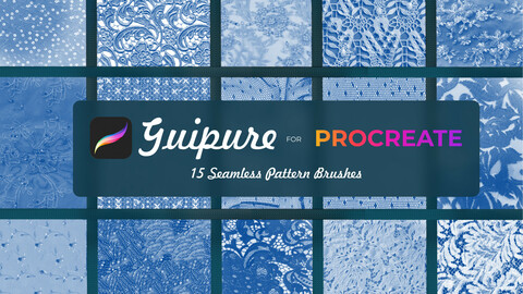 15 Guipure brushes for Procreate
