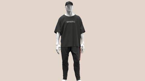 Male Outfit Marvelous Designer , Clo 3D