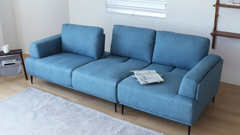 Mild Aquatex 4-seat sofa with extended backrest
