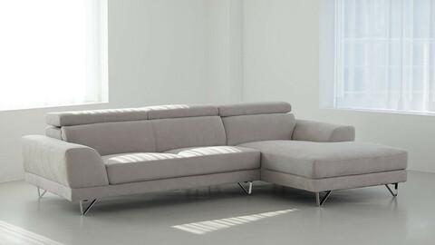 Aqua Fabric Ron Couch Sofa 3colors