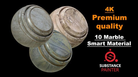 Marble Premium Quality 10 Pcs 4K Smart Material