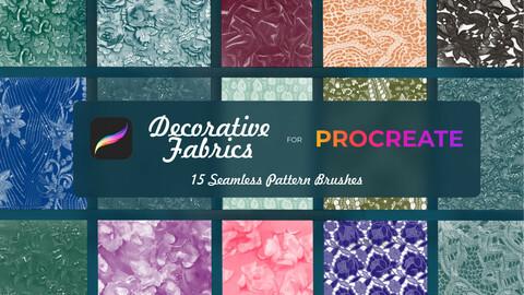 Decorative fabrics brushes Procreate