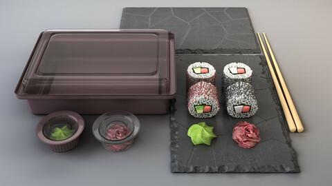 Japanese rolls set