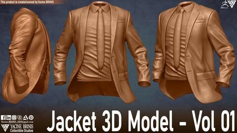 Jacket 3D Model Vol 01