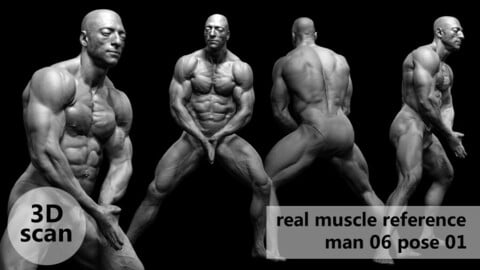 3D scan real muscleanatomy Man06 pose 01