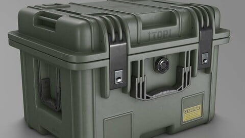 Military Crate High Poly 3D model