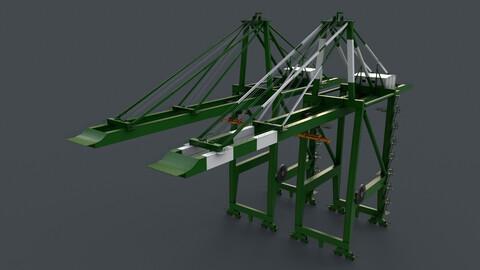 PBR Quayside Container Crane V2 - Green