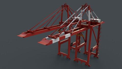 PBR Quayside Container Crane V2 - Red