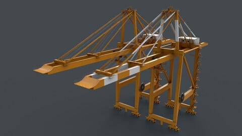 PBR Quayside Container Crane V2 - Yellow Dark