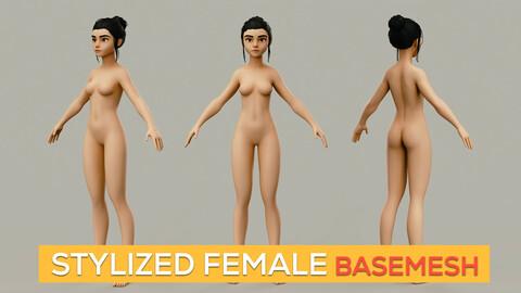 Stylized Female Basemesh