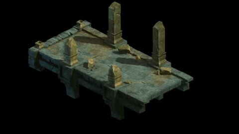 Model - Underground Palace Platform Stone Gallery