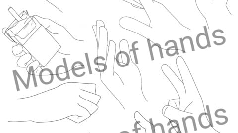 Models of hands - Reference for Manga and Anime Artists