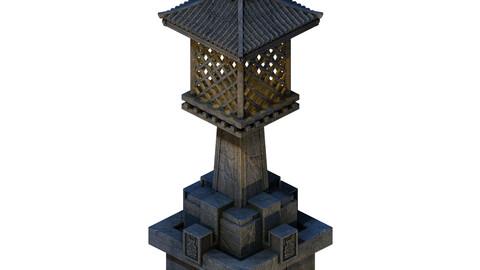 Huanglongshan - small stone lamp