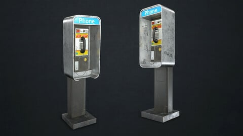 Phone Booth - Low Poly