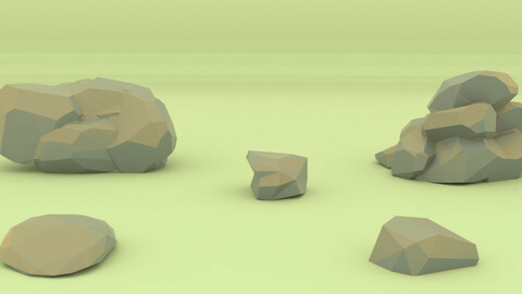 Low Poly Rocks 2