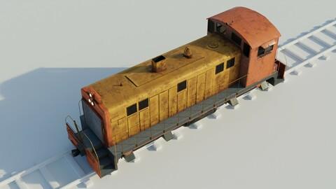 Diesel locomotive 3D model textures PBR 4K